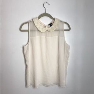 Ann Taylor Peter Pan Collar Tank